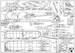 Centaur model airplane plan