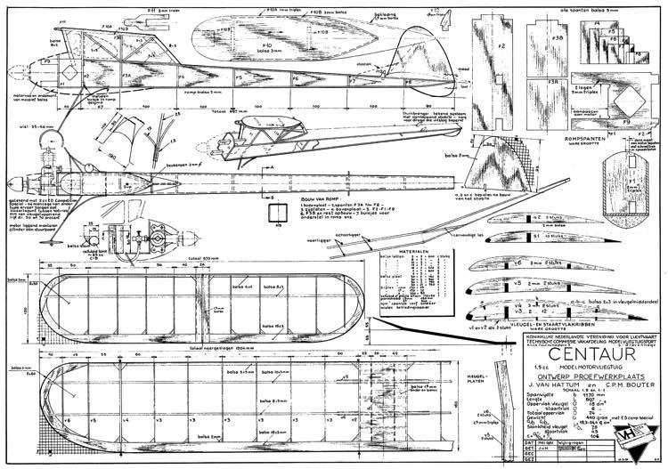 Centaur model airplane plan