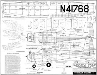Cessna 172 model airplane plan