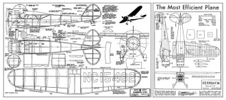 Cessna C-34 2 model airplane plan