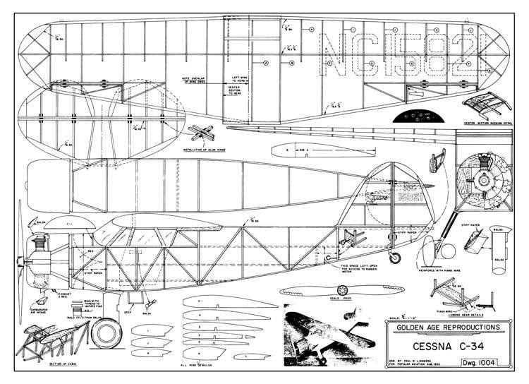 Cessna C-34 model airplane plan
