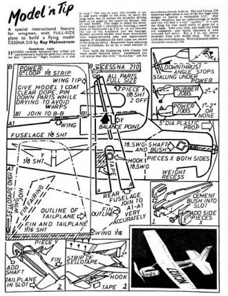 Cessna-210-Mamlstrom model airplane plan