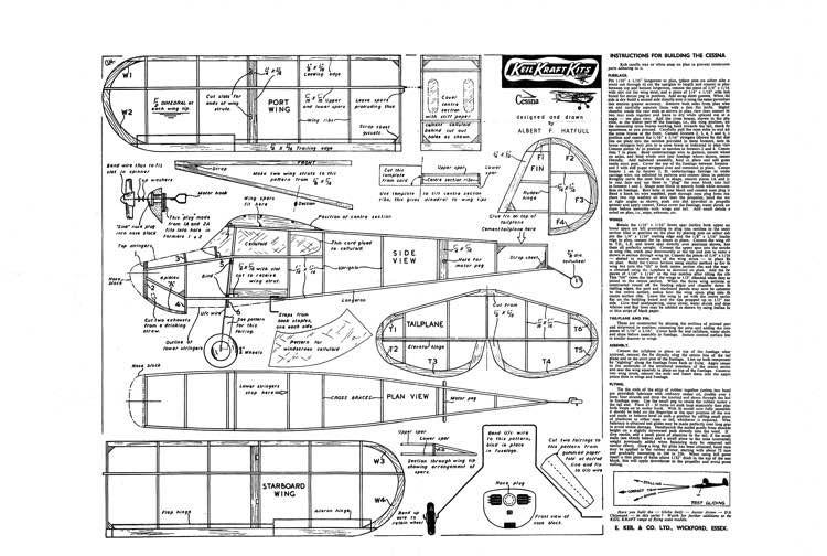 Cessna_140 model airplane plan