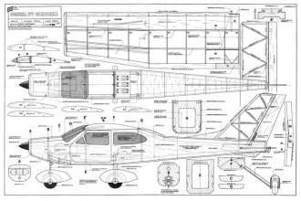 Cessna 177 67 inch model airplane plan