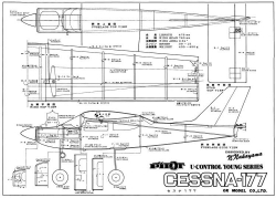 Cessna 177 2 model airplane plan