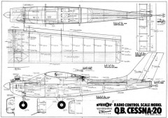 Q.B. Cessna-20 model airplane plan