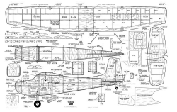 Cessna 180 HH-1163 model airplane plan
