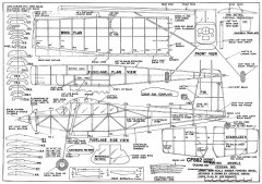 Cessna 180 Jumbo Rubber model airplane plan