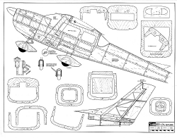 Cessna 182 Skylane RCM-9040 model airplane plan