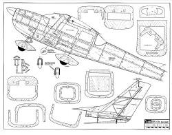 Cessna 182 Skylane RCM-9040 model airplane plan