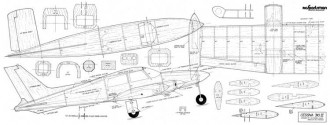 Cessna 310 46in model airplane plan
