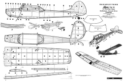 Cessna Bird Dog 1200mm model airplane plan