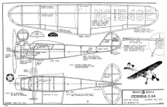 Cessna C-34 Megow 15in model airplane plan