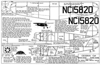 Cessna C-37 model airplane plan