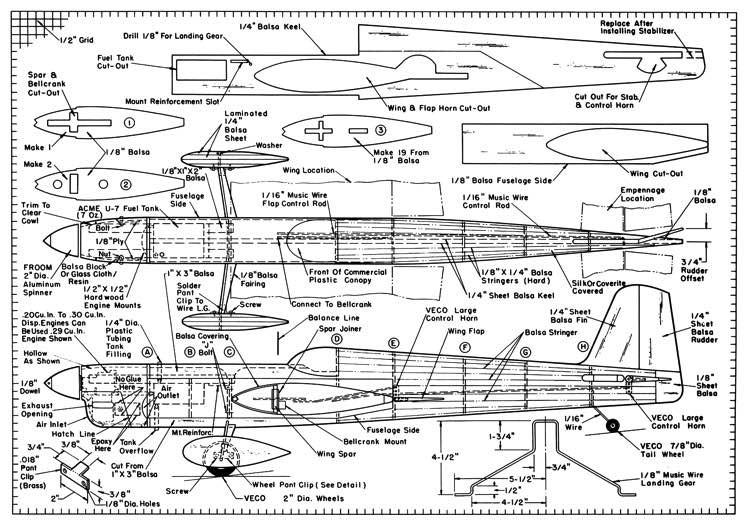 Challanger model airplane plan