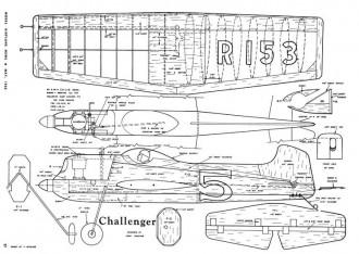 Challenger-MAN-05-52 model airplane plan