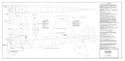 The Challenger model airplane plan