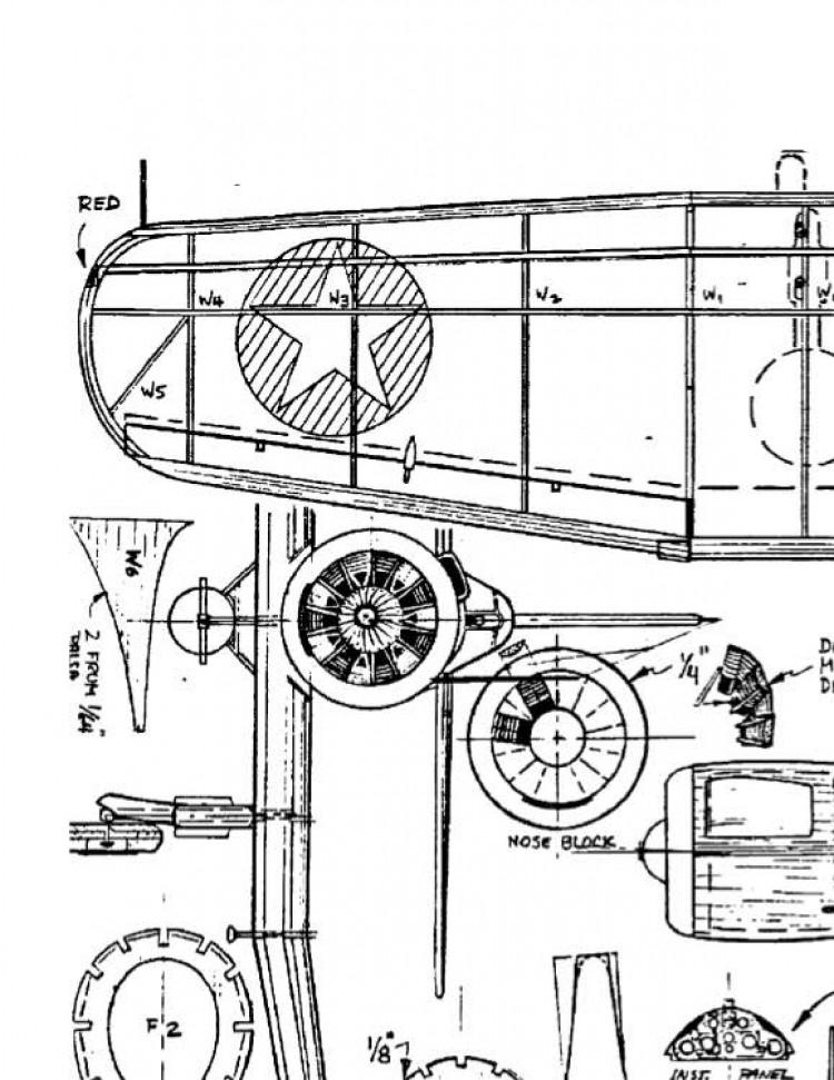 Chance-Vought SB2U-1 model airplane plan
