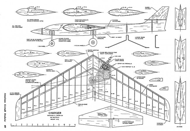 Charger-AAM-10-70 model airplane plan