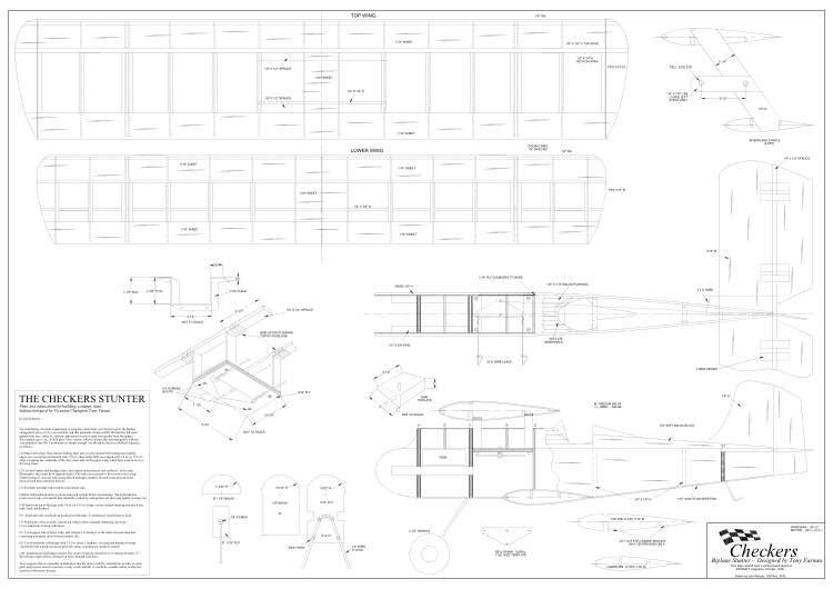 Checkers model airplane plan