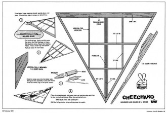 Cheechako model airplane plan