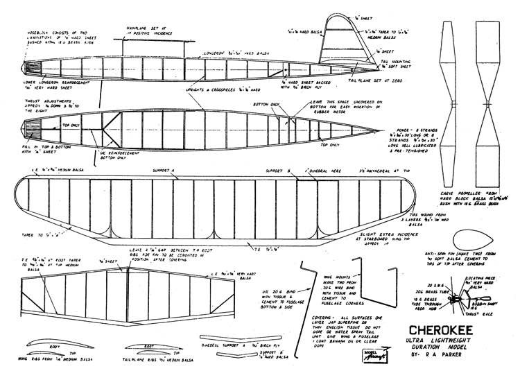 Cherokee 32in model airplane plan