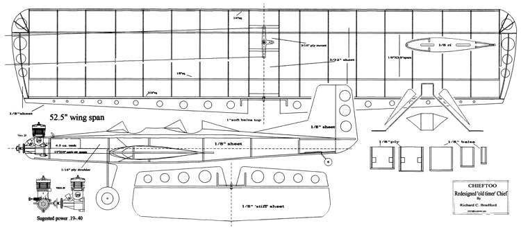 Chieftoo model airplane plan