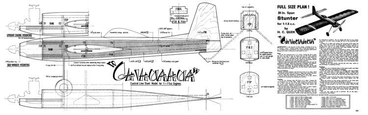 Chihuahua model airplane plan