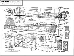 Chow Hound B Team Racer model airplane plan