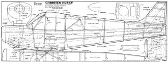 Christen Husky 53in model airplane plan