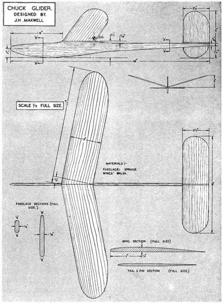 Chuck 22 model airplane plan