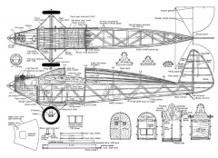 Church Mid-Wing model airplane plan