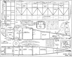 Cicada 62in model airplane plan