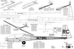 Cirrus-glider model airplane plan