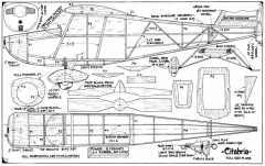 Citabria 26in model airplane plan