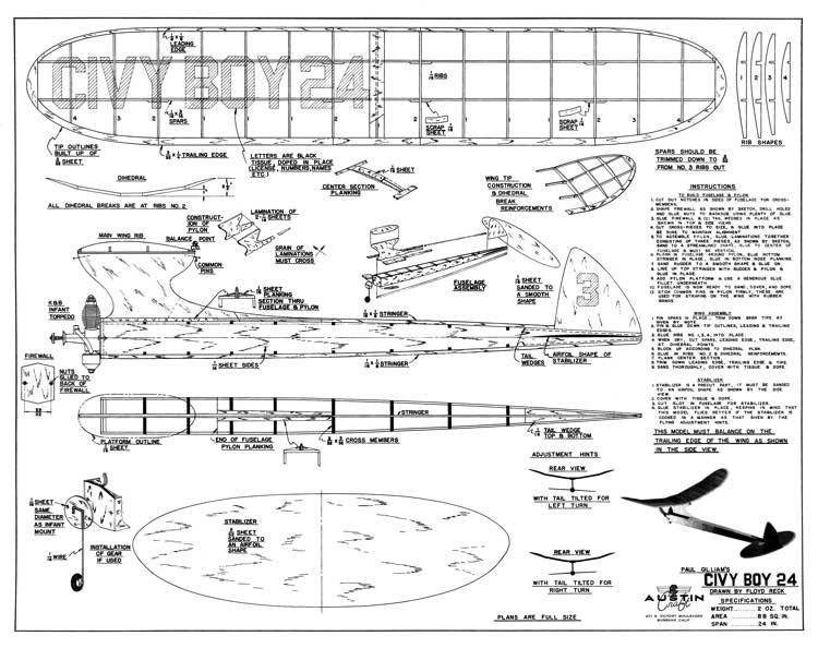 Civy Boy 24 model airplane plan