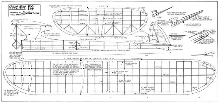 Civy Boy 36 model airplane plan