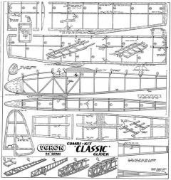 Classic model airplane plan