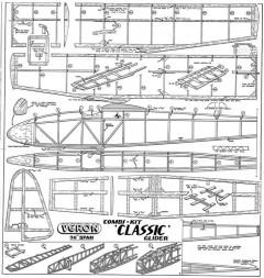 Classic model airplane plan