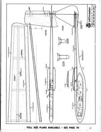 Cliffmaster2 model airplane plan