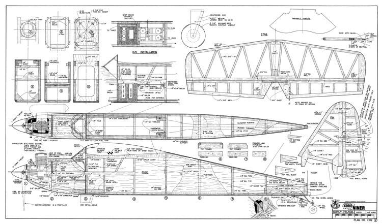 Cloud Niner model airplane plan