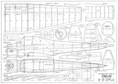 Cmelak 44in model airplane plan
