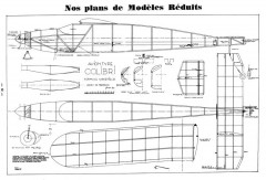 Colibri Wakefield model airplane plan