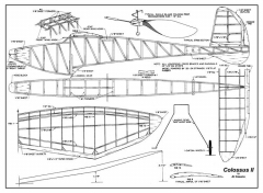 Colossus II model airplane plan