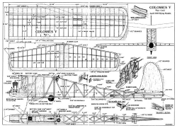 Colossus 78in model airplane plan