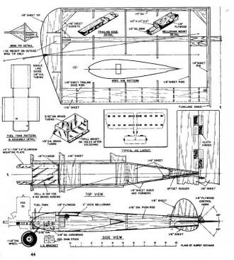 Combateer CL model airplane plan