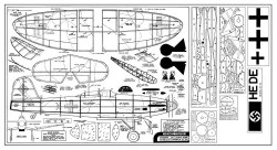 Comet Heinkel model airplane plan