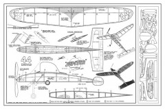 Comet Jupiter model airplane plan