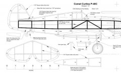 Comet P-40 Warhawk (CAD redrawn) model airplane plan