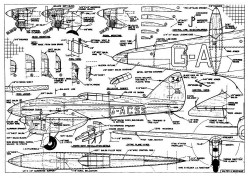 Comet model airplane plan